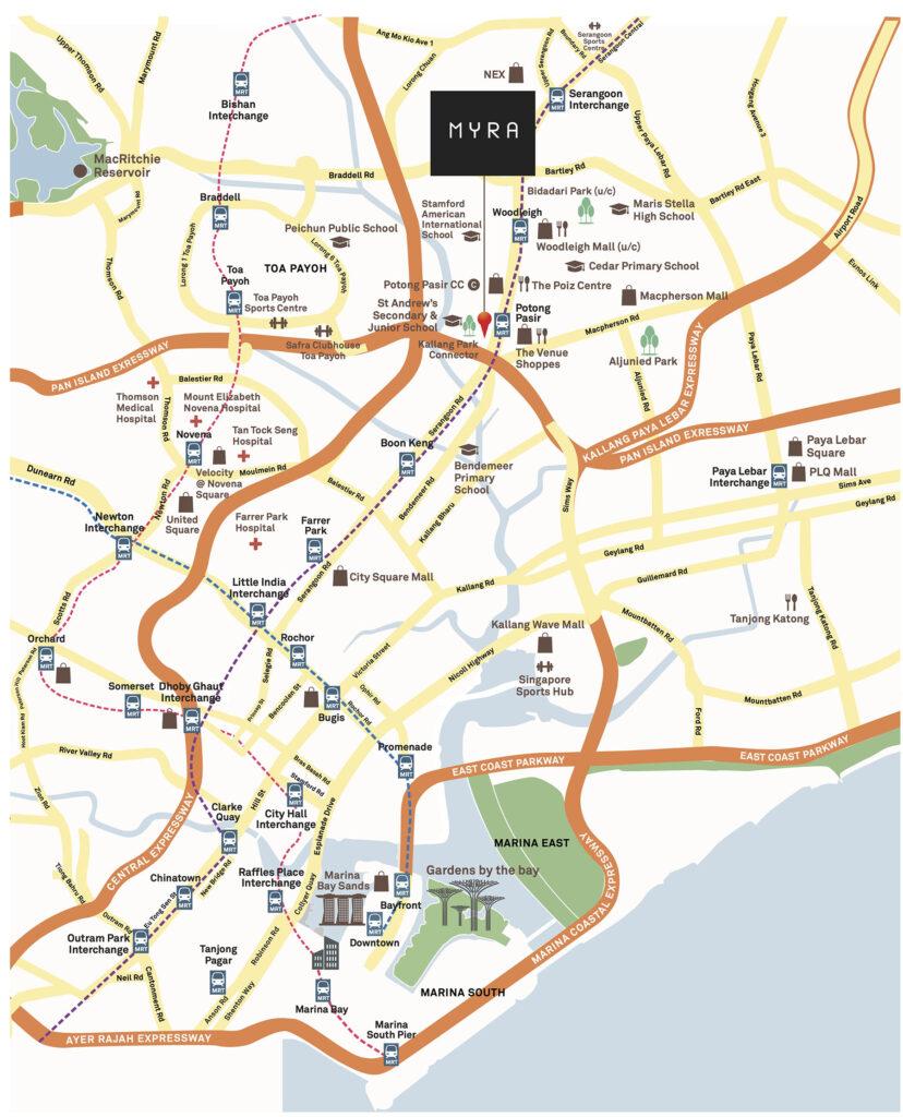 Myra Location Map Singapore