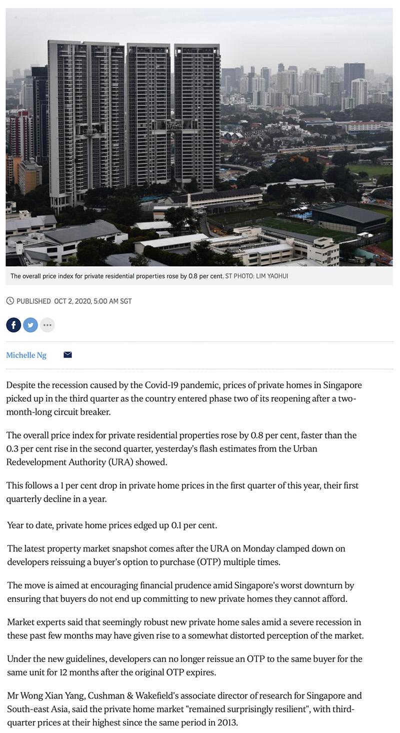 Myra - Private home prices rise faster in Q3 despite Covid-19 recession 1